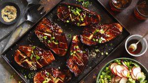 Street Kitchen Glazed Teriyaki Eggplant